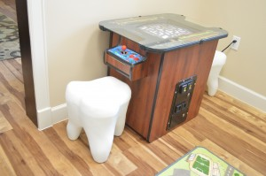 Kids Room: Video Games with Tooth Chairs